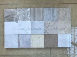 En marbre/granit/Panneaux de face en travertin Honeycomb revêtement mural