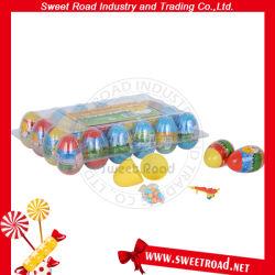 熱い販売のプラスチック驚きの卵のおもちゃキャンデー