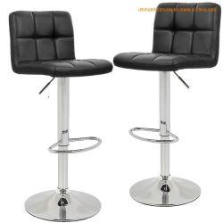 Metallstab-Möbel PU-Sitzstab-hoher Schemel-Stuhl