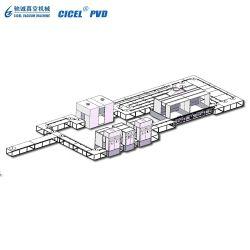 Tappi in plastica Cicel macchina per rivestimento sottovuoto metallizzante UV/linea di vulcanizzazione UV