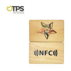 Chip di legno della carta di credito di stampa della scheda della lunga autonomia 125kHz RFID NFC