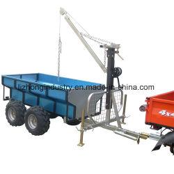 China Best 360 Degree Revolved Boom 1.5t Capacidade de carga ATV Timber Trailer, ATV Log Trailer, ATV Log Trailer com Crane (001)