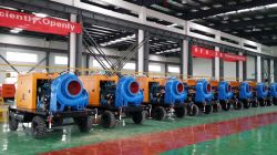 2000m3/H 6m de la cabeza Mobile Trailer Motor diésel con bombas para riego agrícola instalado en Lagos, Nigeria