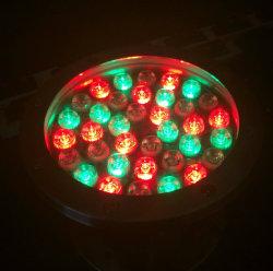 Fuente de luz LED de colores bajo el agua con 3 años Warrenty