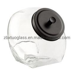 Candly frascos de vidrio Botella de vidrio Cookie los tarros de cocina con Matta las tapas de metal negro