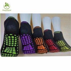 Quartos confortáveis Custom Mulheres Homens Moda Pega de algodão meias feliz meias de ioga, Esportes Esportes trampolim meias de tornozelo
