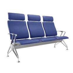 Высокая задний металлический тип ожидания кресло с подголовником и PU подушка для отдыха