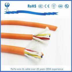 La cadena de arrastre Flexible Cable Eléctrico Cable blindado de la cadena energética Towline cable eléctrico
