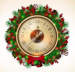 2020 Verde Rojo decorativos Navidad Relojes de pared