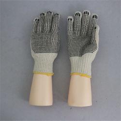 7g de tejido de la cadena de puntos de PVC de doble cara Guante Guante tejido guantes de algodón-2417