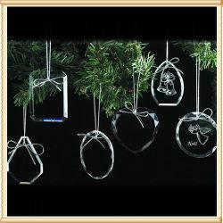 休日の昇進の個人化されたクラフトのギフトのクリスマスツリーの装飾のクリスタルグラスの装飾