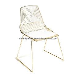금속 의자 공급자 연회를 위한 옆 의자를 식사하는 옥외 Starkable 금속 와이어