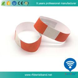 卸し売り専門のペーパー材料13.56MHz RFIDのリスト・ストラップ