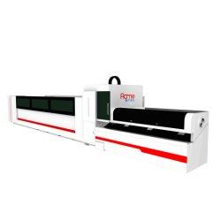 CNC Gecontroleerde het Voeden van het Vakje van de Sectie van het Profiel van de Buis van het Metaal van de Pijp van het Staal van de Laser van de Waterkoeling van de Breuk Ononderbroken Roestvrije Automatische Laser van de Vezel Scherpe Apparatuur