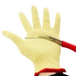 安全ヤーンの熱のResestantの化学薬品のPVCによって切られる抵抗力がある製造業者のケブラーの手袋
