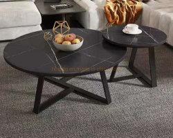 イタリアの現代ブラックコーヒー表木の折る食事セットの延長スペース節約表