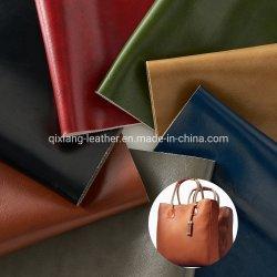 Wallet PVC der Handtaschen-Dame künstliches Stärken-Leder des Öl-Wachs-Pelz-1.0mm
