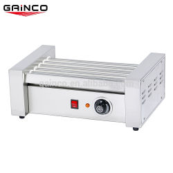 5 rouleaux en acier inoxydable Hot Dog cuisinière/Chinois Hot Dog Grill Machine électrique