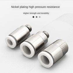 El tubo de aire neumático recto redondo con agujero hexagonal, Mini Mini hilo común directamente a través de los POC4/6mm M3/M5 conexiones neumáticas