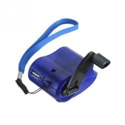 Логотип лазерный чрезвычайной портативный Hand-Cranking Динамо универсального зарядного устройства USB