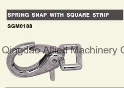 Ressort en acier inoxydable avec un carré Strip Snap