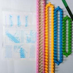 カラフルなサイズのロングプラスチックニットロム、ハンドウィービングロム