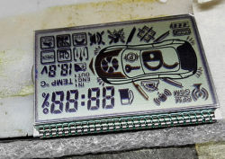 차 경보 세그먼트 LCD 디스플레이를 인쇄하는 주문 소형 실크 스크린