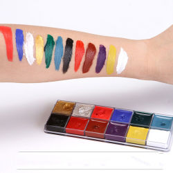 Fluorescentes neón de color pastel UV a base de agua pintura Corporal Facial maquillaje para Navidad