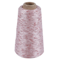 Fios de trança oco de nylon com fios de malha Lurex Sparkle Ly-N133