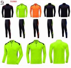 1/4 Zipper survêtement de soccer pour les enfants des hommes Sports Football vestes de préchauffage