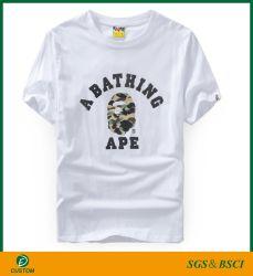 Дешевые цены шелк печать поощрения T футболки на заказ