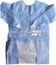 Steriles und nicht steriles verstärktes SMS chirurgisches Wegwerfkleid