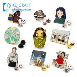 Hersteller Metall Lustige Logo Glitter Korea Kpop Bts Lapel Pin Abzeichen Cartoon Cute Anime Soft Hard Custom Emaille Pin für Kleidung