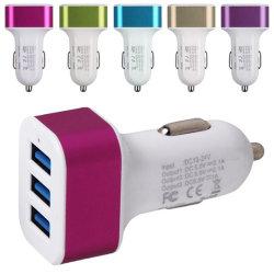 3 порт USB 5.1A универсального автомобильного зарядного устройства USB адаптер питания DC12V 24V для iPhone iPad Samsung
