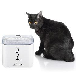 نافورة مياه الحيوانات الأليفة الذكية موزع مياه Cat التلقائي 2.75L يشرب نوافير قصع مع ضوء LED