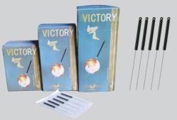 La victoire de l'Acupuncture aiguilles avec poignée en plastique conducteur