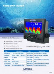 Ecrã LCD TFT de 7 polegadas do localizador de peixes Dual-Frequency Comercial
