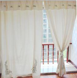 Tessuto all'ingrosso caldo di tela del ricamo del cotone per la tenda di finestra