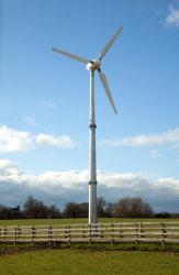 Torre libre del acero de la turbina de viento