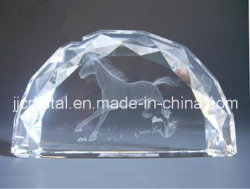 Gravure van de Laser van het Gewicht van het Document van het Kristal van de halve cirkel 3D
