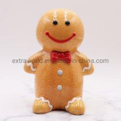 مضحك خزفي جنجربريد مان كوين بنك بيجي بنك في عيد الميلاد هدية