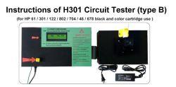 Testador de cartucho de tinta vazio para HP 61 / 122 / 301 / 802 / 704 / 46 / 678 com testador de cartucho vazio de alta qualidade