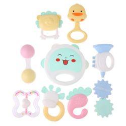 El traqueteo de la mano del bebé de plástico de juguete agitar el molde de anillo de campana