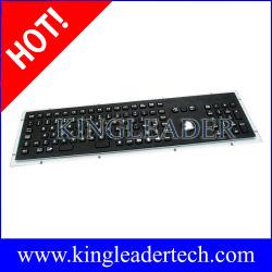 لوحة مفاتيح صناعية باللون الأسود المعدني مع كرة التعقب ومفاتيح الوظائف