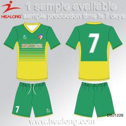 Healong Popular Sportswear Any Logo Dye Sublimation Fußballtrikot