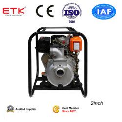 """2"""" de la bomba de agua de Diesel con motor Diesel de 5 CV (negro carcasa del ventilador)"""