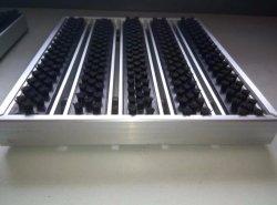 Sistema da ranhura do tapete de entrada de alumínio com elementos de tapete de borracha da escova