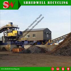 Fresa a martello per fusti/fusti/nastri in acciaio per il riciclaggio di metalli usati