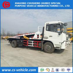 شاحنة سحب مسطحة Dongfeng 4X2 One Drive ثلاث شاحنات سحب مسطحة سعة 8 أطنان مترية