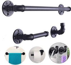 Industrielle Rohr-Dekor-Installationssatz-Robe-Haken-Tuch-Papier-Badezimmer-Befestigungsteile